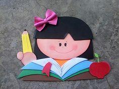 #girl #lapiz #manzana #lazo #book #libro #apple #pencil