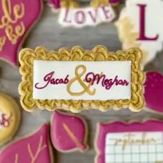Such a great Wedding Cookie by Crown Cookies, Fancy Cookies, Iced Cookies, Cute Cookies, Yummy Cookies, Cupcake Cookies, Cupcakes, Royal Icing Cookies Recipe, Sugar Cookie Icing