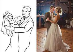 20 лучших поз для свадебной фотосессии, первый танец молодожёнов