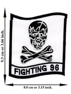 'Fighting 96 Patch' Iron on Patch 3.66'x3.15' Appliques Hat Cap Polo Backpack Clothing Jacket Shirt DIY Embroidered Iron on / Sew on Patch -- Read more reviews of the item by visiting the link on the image.