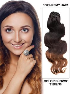 Body Wave Three Tones Brazilian Ombre Hair Weft in Color #1b-#2-#30 100g/pc Double Wefts Remy Hair 10-32 inch Cheap Wholesale