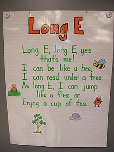 Long e poem for anchor chart