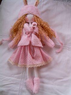 Handmade rag doll clothes.
