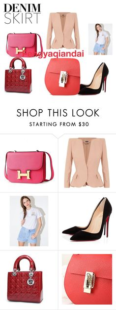 """""""Fengyaqiandai genuine leather bags20160215004"""" by houseofhello on Polyvore featuring Alexander McQueen, Christian Louboutin, women's clothing, women, female, woman, misses and juniors"""