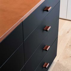 The stylish applications for this kitchen cabinet pulls are unlimited! Fits All Furniture ✓ No Minimum Order ✓ Handmade in Germany ✓ Furniture Handles, Leather Furniture, Unique Furniture, Luxury Furniture, Furniture Ideas, Kitchen Drawer Pulls, Kitchen Handles, Drawer Handles, Leather Drawer Pulls