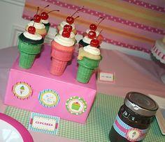 Cute idea for ice cream or sweet shoppe theme