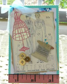Vintage Sewing Card - Southern Shabby Gal on Etsy
