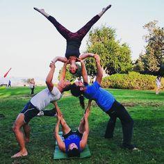 80 best acroyoga  group challenges images  partner yoga