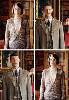 Downton Abbey Season 6 ....Mary, the last time I saw you, you threw me out for saying I loved you. Now you've whistled and I'm here, but I don't know why..
