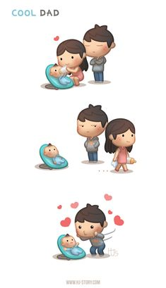 HJ-Story comic of love! Little cute romance episodes of love and happiness to brighten up your day. Hj Story, Love Cartoon Couple, Cute Couple Comics, Cute Comics, Cute Love Cartoons, Funny Cartoons, Cute Cartoon, Funny Love Story, Cute Love Stories