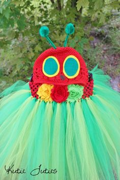 Ahh!! Love this!!!! Ella for halloween....    ? The Hungry Caterpillar Tutu Dress Birthday by KutieTuties on Etsy, $84.95