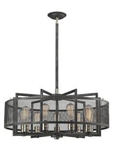 Slatington 9-Light Chandelier from Overhead Lighting on Gilt