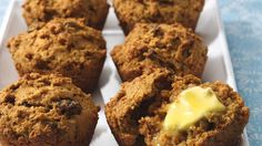 Mmm! Warm homemade muffins! Feel good about these since they're made with Fiber One® Raisin Bran Clusters® cereal.