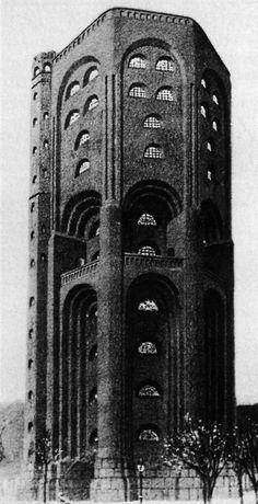 Hans Poelzig | Water tower | Hamburg, Germany (1910)