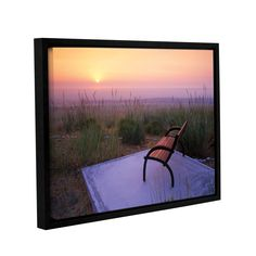 Peach Sunset by Dennis Frates Framed Photographic Print