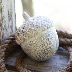 Whitewashed Ceramic Acorn | dotandbo.com