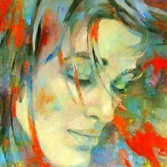 Galería los Caracoles Artista: Martha Escondeur Título: Primavera Tamaño: 120 x 120 cm Técnica: Oleo sobre tela Año: 2014