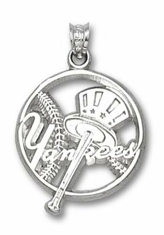 MLB New York Yankees Sterling Silver Pierced Baseball Charm by Logo Art. $29.99
