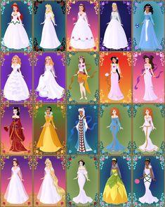 Disney Brides by LadyAquanine73551.deviantart.com on @deviantART