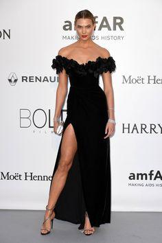 Pin for Later: Ne Manquez Pas Tout le Glamour de la Soirée la Plus Mode du Festival de Cannes Karlie Kloss Portant une robe signée Marchesa.