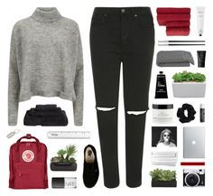 """""""Selena"""" by moonlightxbby ❤ liked on Polyvore featuring Topshop, Fjällräven, Designers Remix, Superior, Chanel, Vans, NARS Cosmetics, Christy, Christofle and Rodin"""