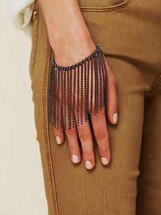 Ball Chain Curtain Bracelet  #ecrafty @ecrafty #ballchains