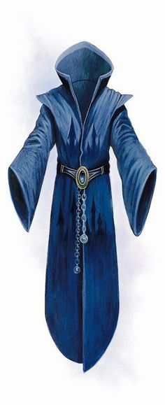 Inspiration for Icos' robe. Added+ gold detail, leather belt, and hood lined in gold Fantasy Armor, Fantasy Weapons, Medieval Fantasy, Wizard Robes, Wizard Costume, Dungeons And Dragons, Mage Robes, Moda Medieval, Character Art