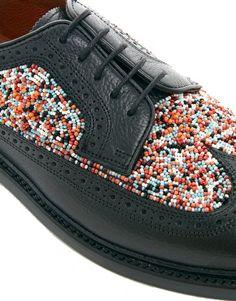 Enlarge Florsheim By Duckie Beaded Brogue Shoes