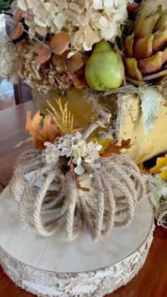 Diy Crafts For Home Decor, Fall Home Decor, Fall Table Decorations, Diy Thanksgiving Decorations, Diy Autumn Crafts, Diy Thanksgiving Crafts, Fall Table Centerpieces, Autumn Home, Fall Pumpkin Crafts