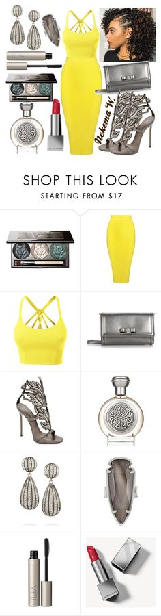 """My 33rd Birthday Party🎂"" by sexyshonda ❤ liked on Polyvore featuring Chantecaille, Posh Girl, LE3NO, Salvatore Ferragamo, Giuseppe Zanotti, Boadicea the Victorious, Kenneth Jay Lane, Kendra Scott, Ilia and Burberry"