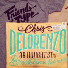 "FONT and design love! Erik Marinovich ""Chris Delorenzo"""