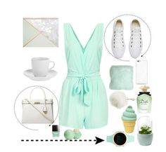 """MINT & W"" by valemx ❤ liked on Polyvore featuring Converse, Dorothy Perkins, Aéropostale, Pillow Decor, Butter London, Dolce&Gabbana, Eos, Charlotte Russe and Amara"