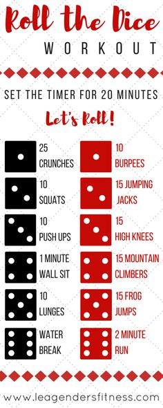 ROLL THE DICE WORKOUT AND GIVEAWAY