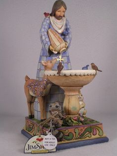 Jim Shore 'St Francis' Fountain Welcome Creatures Great Small 4010033 NIB | eBay