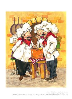 size: Framed Photographic Print: Soup Chefs by Jerianne Van Dijk : We've designed a frame to pair perfectly with this high-quality photographic print. It includes a protective layer, covered backing, and all necessary hardware. Chef Pictures, Kitchen Pictures, Chef Kitchen Decor, Kitchen Art, Foto Transfer, Healthy Soup Recipes, Healthy Foods, Le Chef, Stretched Canvas Prints