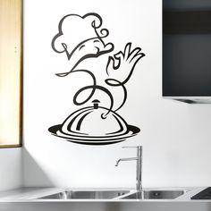 chef uniform: dish and cook Illustration Farmhouse Kitchen Decor, Kitchen Art, Boho Kitchen, Country Kitchen, Farmhouse Style, Kitchen Ideas, Deco Cafe, Catering Logo, Wood Burning Crafts