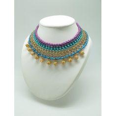 Collar Isis blue/purple de la nueva colección PV de Marta Junco para www.luxeli.com