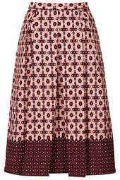 Tile Border Midi Skirt