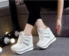 ==> [Free Shipping] Buy Best Akexiya high wedge casual shoes Woman Platform Canvas Online with LOWEST Price   32767268393