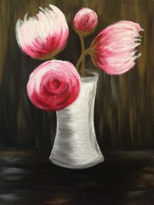 View Paint and Sip Artwork - Pinot's Palette Canvas And Cocktails, Little Buds, Forest Painting, Paint And Sip, Beginner Painting, Canvas Art, Canvas Paintings, Flower Art, Peonies