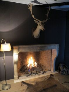 Nice french country fireplace interieur pinterest for Fireplace surrounds for gas fires