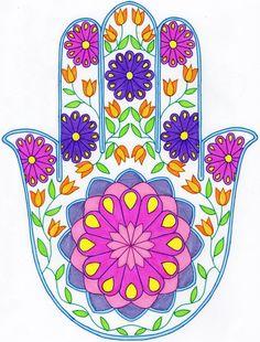Hamsa Hand Zentangle coloring Hamsa Tattoo Design, Hamsa Hand Tattoo, Hamsa Art, Hamsa Design, Mandala Design, Mandala Art, Modern Hippie Style, Hippie Chic, Diy Art Projects