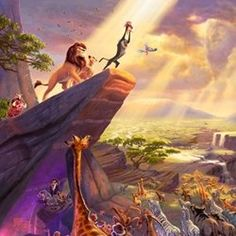 Thomas Kinkade-The Lion King. One day.. I WILL HAVE THIS IN MY HOME.