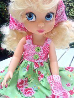 Disney Animator Doll Clothes -  Floral Dress by SherbetLemoni on Etsy
