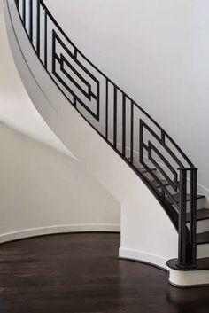 For Interior Design Staircase Railing Design, Interior Stair Railing, Modern Stair Railing, Wrought Iron Stair Railing, Home Stairs Design, Balcony Railing Design, Staircase Handrail, Modern Stairs, Handrail Ideas