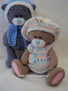 Just cute teddys for inspiration - no pattern