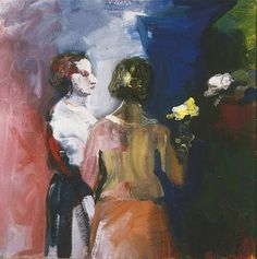 Bischoff, Elmer ( American, - Figures, Back and Profil - 1960 Expressionist Artists, Abstract Expressionism, Bay Area Figurative Movement, Modern Art, Contemporary Art, Figurative Kunst, List Of Artists, Abstract Painters, People Art