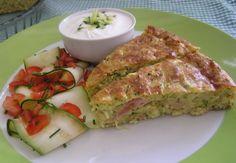 Cuketový slaný koláč (fotorecept) - obrázok 9 Tuna, Pork, Yummy Food, Bread, Homemade, Fish, Meals, Basket, Kale Stir Fry