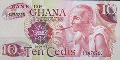 Ghana, Ten Cedis Banknote, 1978.