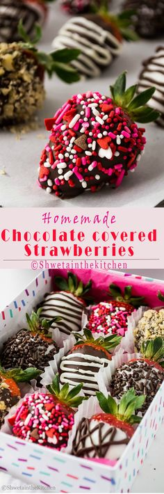 Chocolate Covered Strawberries are these exotic looking treats which are really easy and quick to make. These make the best desserts, gifts or even appetizers. A couple of ingredients and hour or two is all you need to make these.